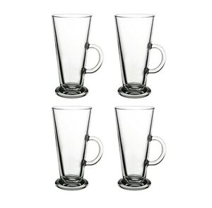4 latte macchiato kaffee gl ser glas kaffeegl ser teegl ser mit henkel 260ml ebay. Black Bedroom Furniture Sets. Home Design Ideas