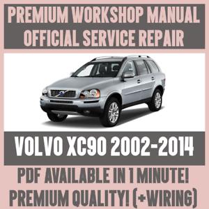 workshop manual service repair guide for volvo xc90 2002 2014 rh ebay com au 2004 volvo xc90 owners manual pdf 2004 Volvo XC90 Chassis