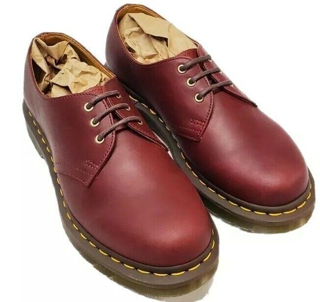 Dr. Martens 1461 Rouge Cerise Lisse Chaussures Oxford   femme Taille: 7   Doc Martens