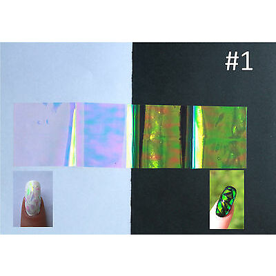 "'Broken/shattered glass"" nail art film 5x20 cm 20 colors to choose"
