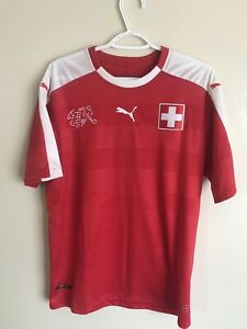 promo code c6ca1 e5144 Details about Puma Switzerland National Soccer Team Swiss Authentic Jersey  XL