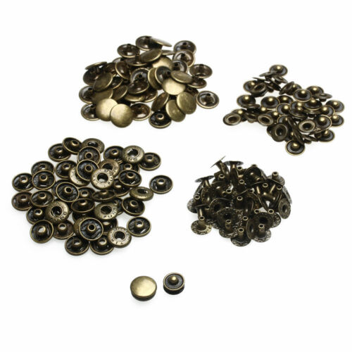15mm S Spring Press Studs Bronze Snap Fastener Poppers Button Sewing Arts