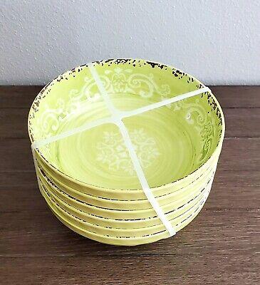 x6 Tommy Bahama Palm Leaves Melamine Dinner Plate Set Green Tropical Summer