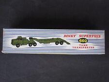 VINTAGE DINKY TOY # 660 TANK TRANSPORTER MINT ORIGINAL BOX