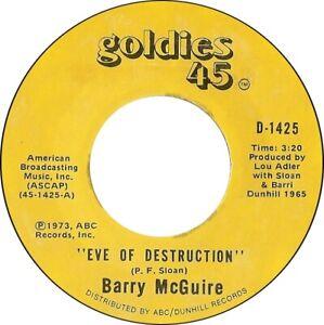 """BARRY McGUIRE - Eve Of Destruction   7"""" 45"""