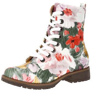 Damen-Stiefel-Boots-Stiefeletten-Schnurboots-Gefuttert-Freizeit-Schuhe-Booty-Neu