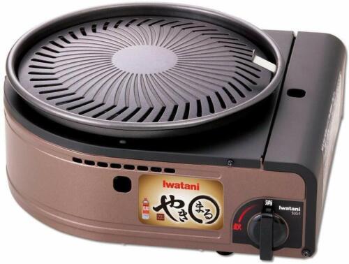 IWATANI Smokeless Yakiniku Grill Yakimaru cassette Gas CB-SLG-1 AC100V 1kw 120