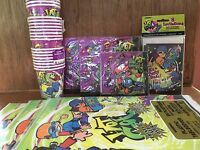 Skater Kids Party Supply Package Tablecovers, Invitations, Napkins, Cups Kit