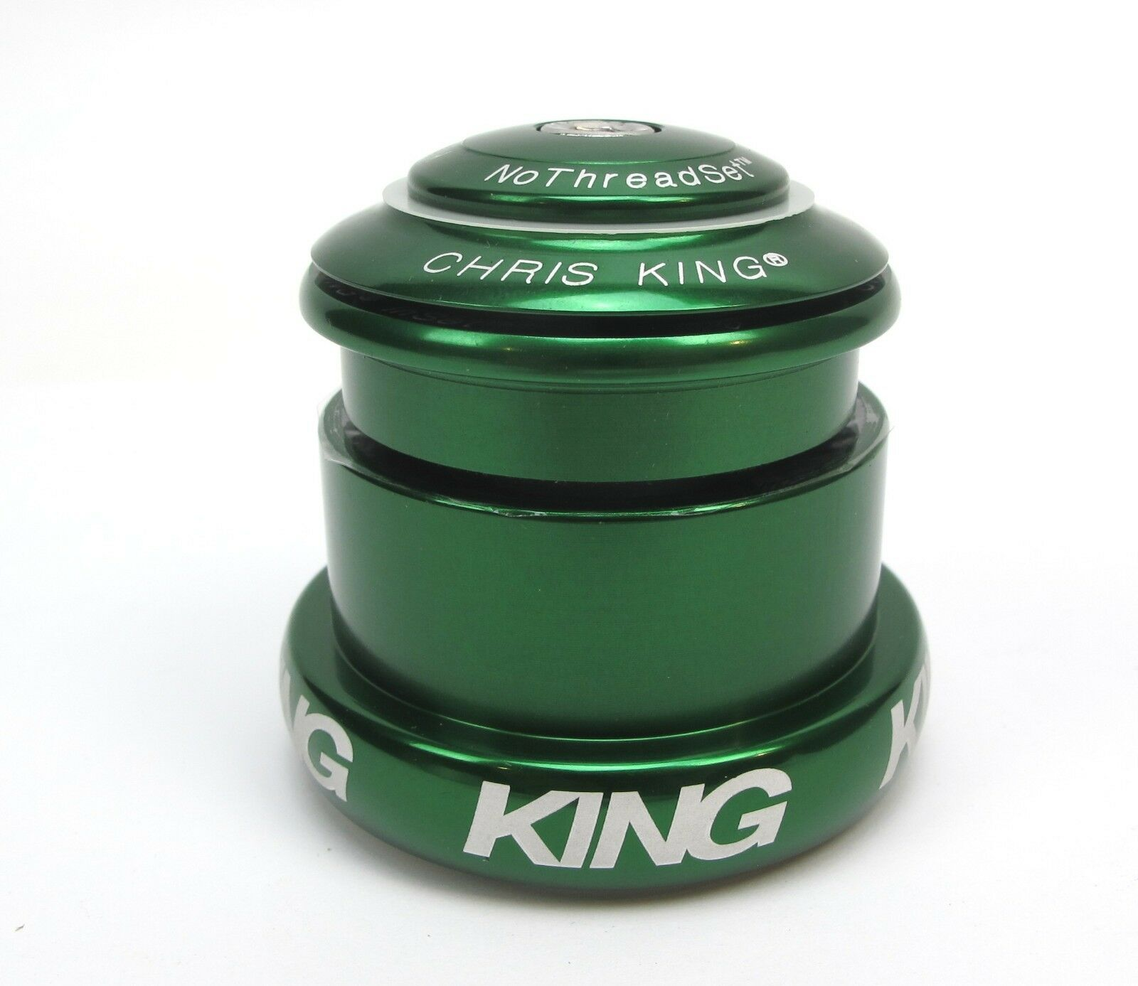 New Chris King Headset Inset I3 ZS44   EC49 Tapered - Green  - 10 Year Warranty