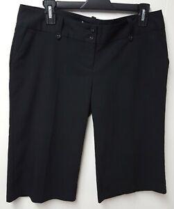 Charlotte Russe Juniors Black Dressier Long Shorts Capris Size 9 Nice!