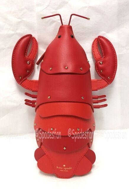 reputable site e7335 52790 Kate Spade PXRU8785 Shore Thing Lobster Crossbody Bag Purse Picnic Red
