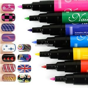 New-Nail-Art-Pen-Painting-Design-Drawing-for-UV-Gel-Polish-Tool-12-colors-N98B