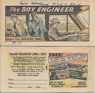 RAILROADS DELIVER THE GOODS AMERICAN RAILROAD RARE GIVEAWAY PROMO COMIC 1954 VG
