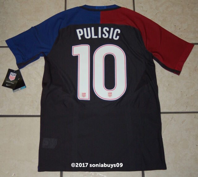 finest selection 5974f 53385 Nike Men's PULISIC USA Away Player Issue Soccer Jersey, 743672, Black, US  Sizes