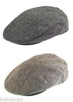 Black or Brown Tweed Herringbone Flat Cap Mens Wool Hat Tweed XL L M S XS