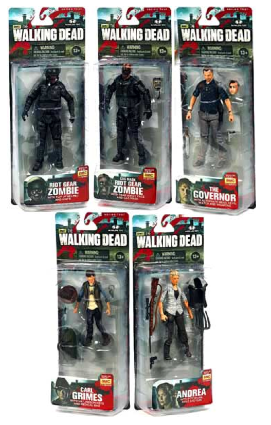 The Walking Dead Tv Series 4 Complete Set Of 5 Figures