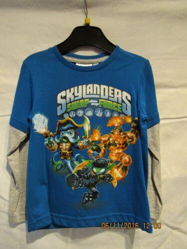 NUOVO ragazzo Skylanders Swap Force Maglia a maniche lunghe in blu.