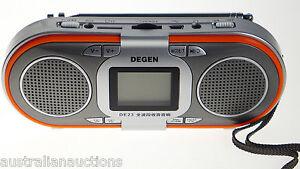 Rechargeable-AM-FM-SW-MP3-Player-Radio-2-Speakers-Portable-Slot-Degen-Quality