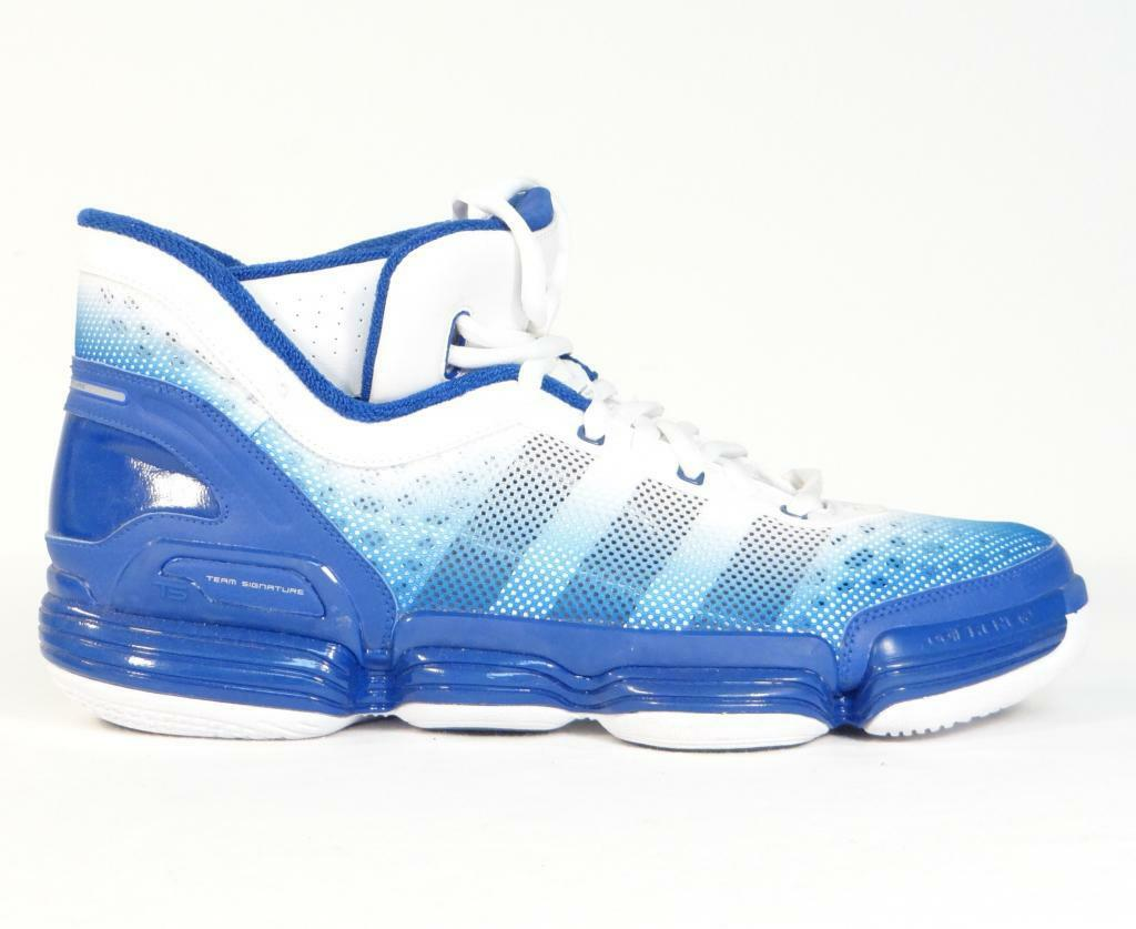 Adidas TS Heat Check & Basketball Schuhes Royal Blau & Check Weiß  Uomo NWT 751372