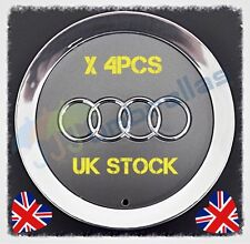 X 4 145mm AUDI CENTER WHEEL HUB CAP BADGE 4E0601165A S8 A8 A6 A4 A5 A3 A2 D3 TT