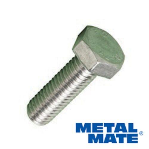 Métrique M12 X 35 mm 1.75P A2 Acier Inoxydable Tête Hexagonale Set Vis Goujons X 10