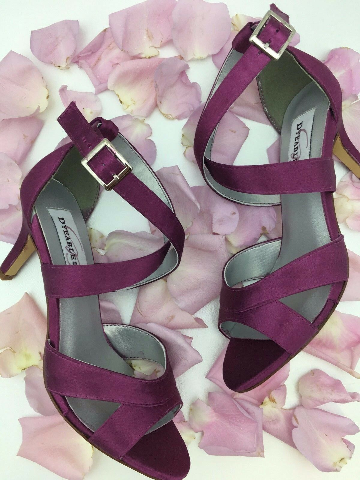Dyeables Amber in Purple, Wedding Schuhes, Wedding Heels, Wide Width Schuhes
