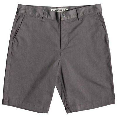 DC Shoes Men's Heather Gray Worker Straight 20.5 Inch Shorts (Retail $51.99)