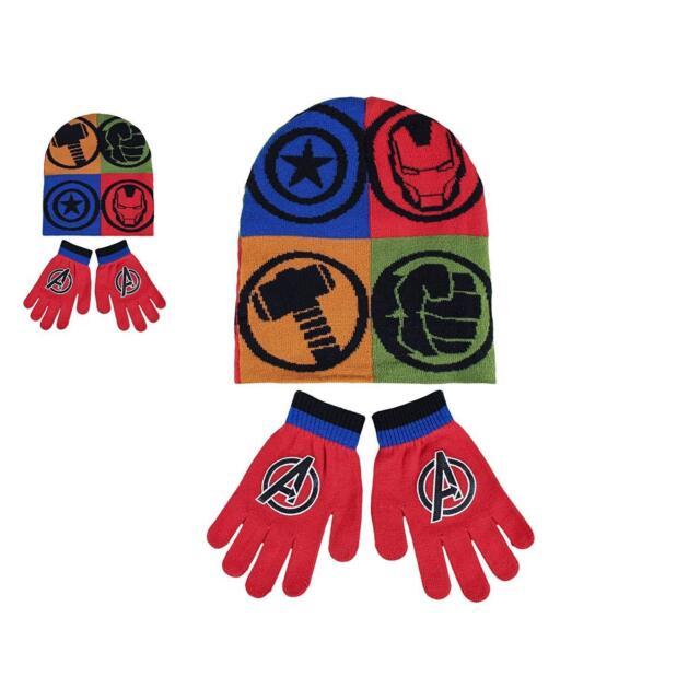 bb2104e48181d Marvel Avengers Kids Infants Hat Beanie Gloves Set Age 1-2 Yrs ...