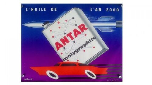 VILMOTTE ed Vox Paris poster advertising ANTAR Molygraphite publicity poster