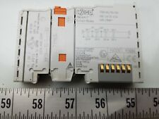 WAGO 4D0 24VDC 0.5A ANALOG OUTPUT MODULE 750-504 LOT OF 8 *PZB*