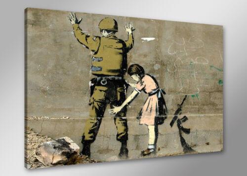 Bilder auf Leinwand banksy 80cm XXL 4169 neu Alle Wandbilder fertig gerahmt