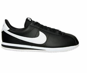 665eee91550 NIKE Cortez Black   White leather Men Women s Casual Shoes 819719 ...