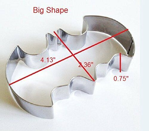 Stainless Steel Set of 2 Batman Cookie Cutter Fondant Cutter Pastry