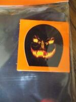 Flaming Jack O Lantern Stocking Mask Spooky Black W/ Flames Halloween Costume