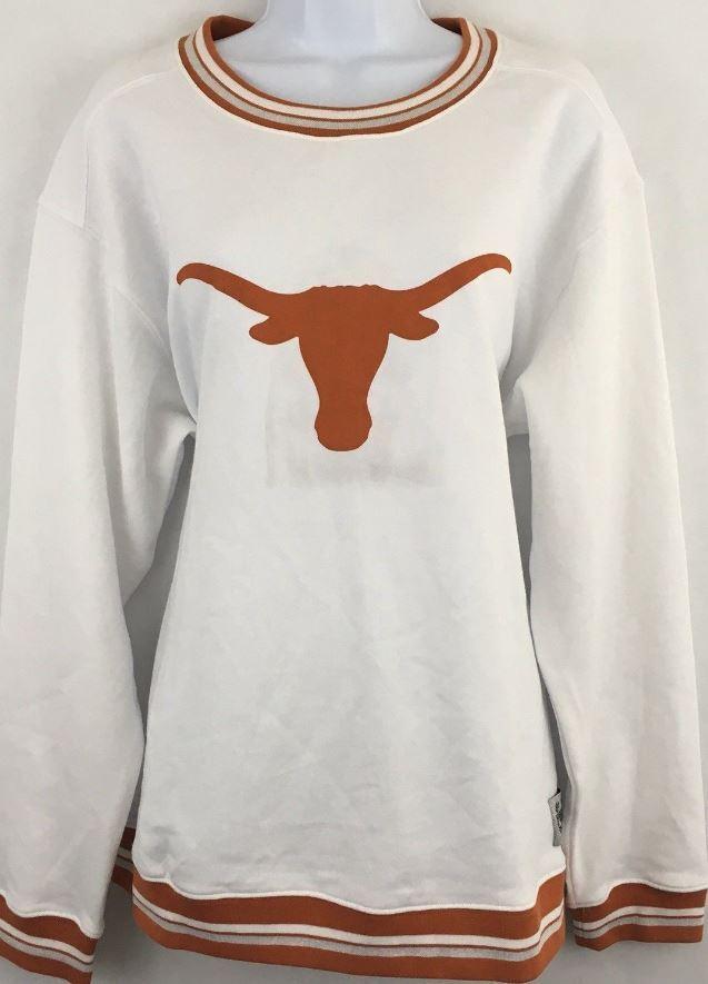 PINK Victoria's Secret Texas Texas Texas Longhorn Collegiate Campus Crew Sweatshirt 5d0928