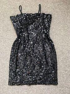Kurz Pailletten Nachtblau Veramont Partykleid 36 Gr Fa Pf0xwH