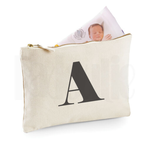 Personalised Baby Nappy Pouch// Mini Changing Bag GIFT FOR NEW BABY /'Letter/'