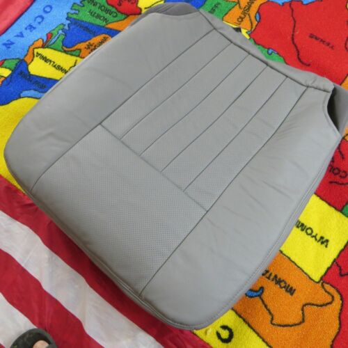03-06 Lincoln Navigator GAS Perforated Driver.Pas Bottom Leather Seat cover GRAY