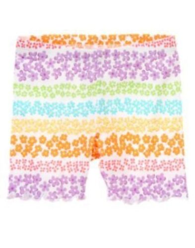 GYMBOREE BUTTERFLY BLOSSOMS MULTI FLOWER BIKE SHORTS 3 6 12 18 24 2T 3T 4T 5 NWT