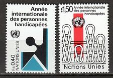 UN - Geneva office - 1981 Year of the handicapped - Mi. 97-98 MNH