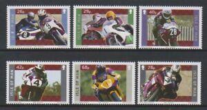 Isle-von-Mann-2005-Jubilaeum-von-Yamaha-Motorrad-Set-MNH-Sg-1225-30