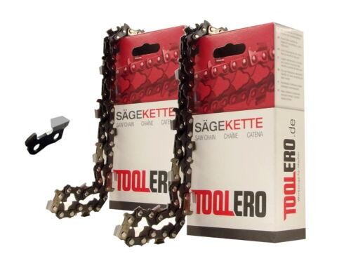2x35cm Toolero Lopro VM Kette für Stihl 025 Motorsäge Sägekette 3//8P 1,3