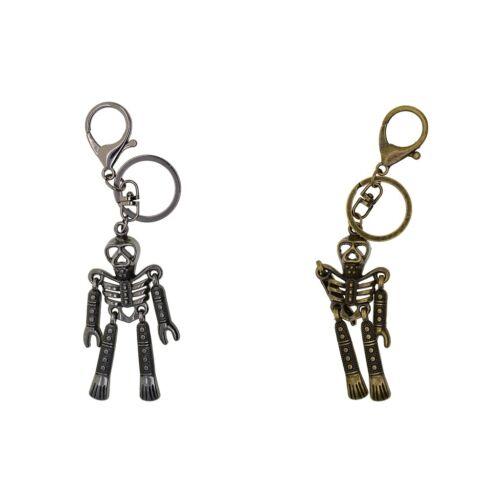 Skull Purse Bag Key Chain Ring Keyring Gift Lobster Swirl Carabiner Keychain