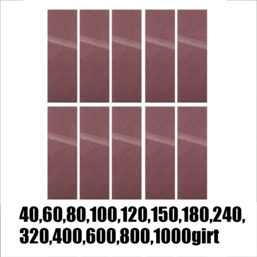 10Pcs 40-1000 Grit 75 x 533mm Sanding Belt Lapped 3 x 21inch Abrasive Sandpaper