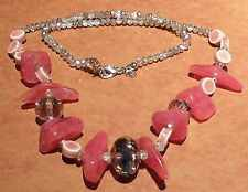 Wholesale Pink chip Faceted bead necklace ex argos stock x20