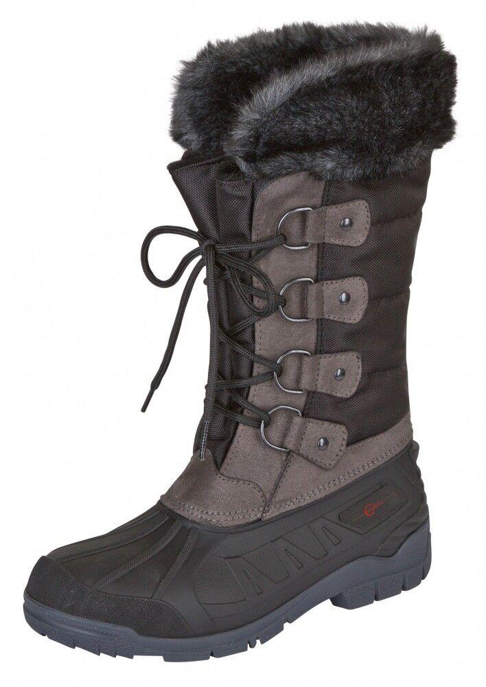 Thermo Al aire libre-botas montreal Covalliero  negro gris NUEVO  de moda