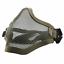 Indexbild 6 - Taktisch Gesichtsmaske Schutz Stahl Gitter Netz Schutz Paintball Airsoft Armee