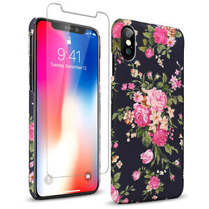 Women Girl Beautiful 3D Floral Slim Case w Screen Protector For ... 0d554fa72
