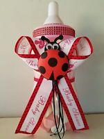 Ladybug Baby Shower Centerpiece Bottle Big 14 Piggy Bank It's A Girl Decoration