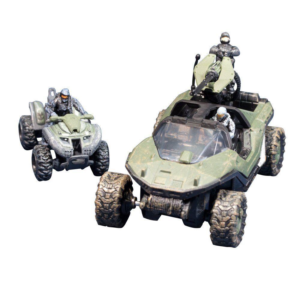 Mcfarlane spielzeug halo micro op reihe 1  warzenschwein + mungo w 2 spartaner + soldat